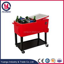 80QT Large Cooler Box With Wheels
