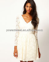 2013 ladies new fashion white lace dresses,slim fit sweetheart neckline appreal