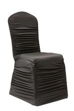china supplier cheap arch luxury fitted ruched spandex folding chair cover/ wedding chair cover