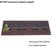 Wholesale double layer asphalt roofing shingles prices/cheap roofing materials