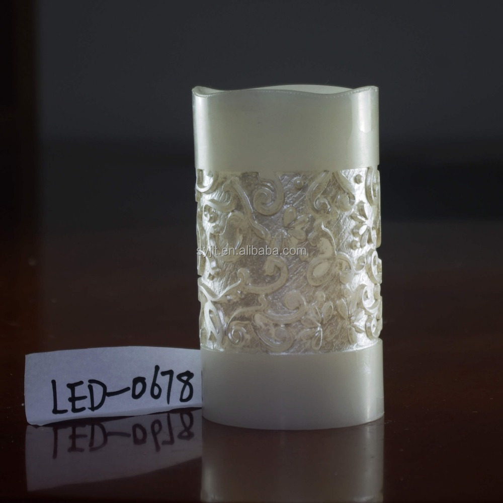 Flameless double hand carved led candles,Flameless LED candle