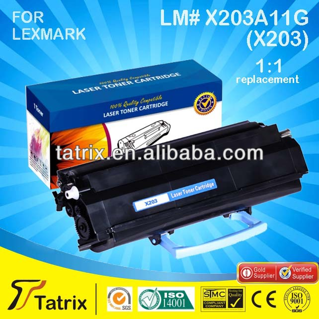 Black Toner Cartridge For Lexmark 203 CE SGS STMC ISO ROHS Approved