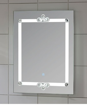 Peacock Feathers Decorative LED mirror  Wall Mounted  Touch Switch bathroom mirror