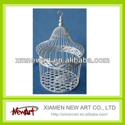 NA10A502 White Small Metal Breeding Bird Cage
