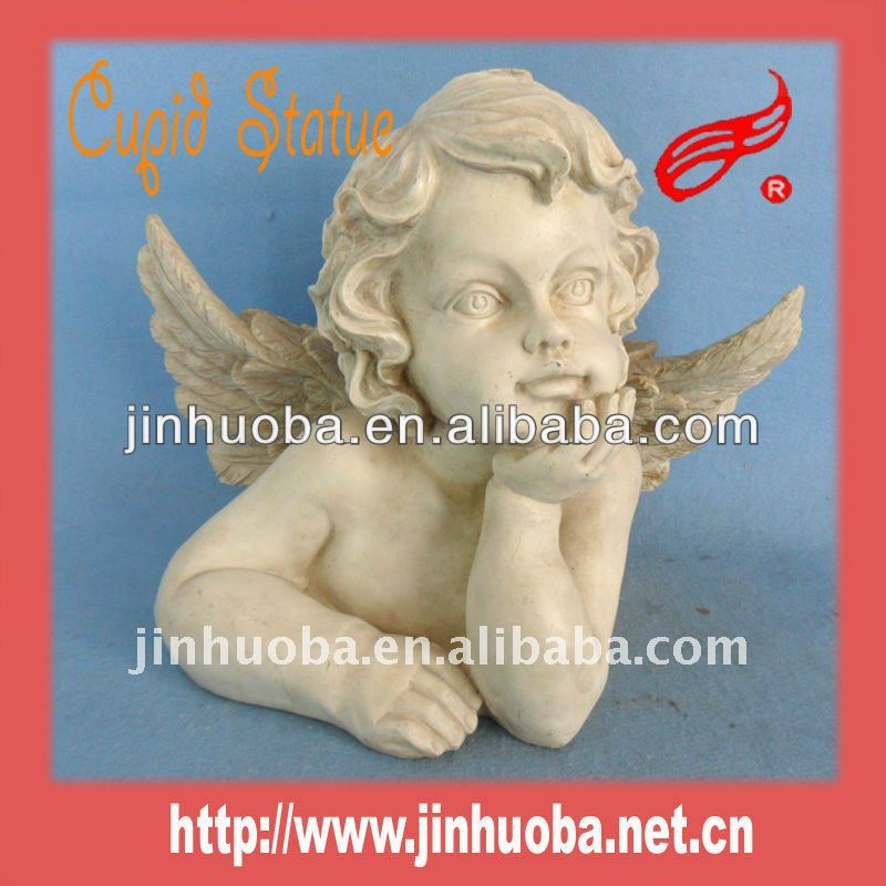 2014 Resin Cupid white angel figurine wholesale