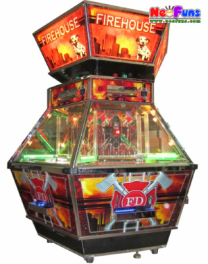 Fire House casino coin pusher game machine for hot sale