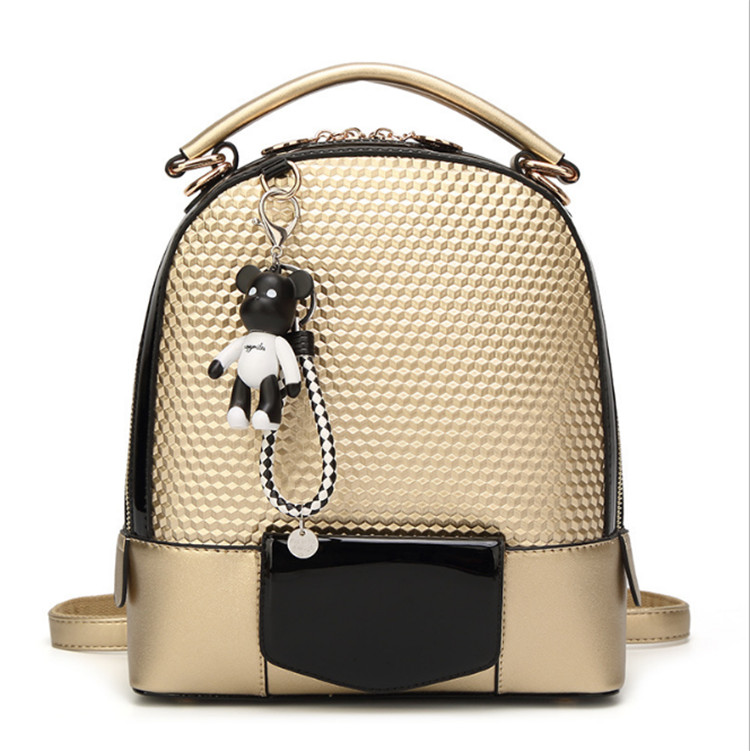 Factory Direct woven gold OEM custom durable small backpack PU Back Pack Backpack <strong>bags</strong>