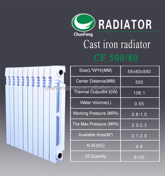 melt water heating radiators for Russia market