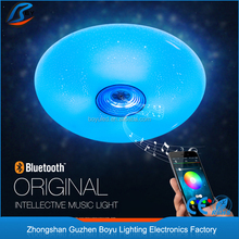 App Remote Control music lamp with bluetooth audio speaker lamp dimming LED Ceiling Lights