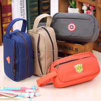 Wholesale LOL serie two zipper pencil case canvas large capacity pencil bag stationery bag