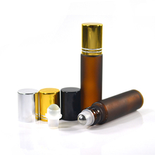 perfume eye cream essential oil clear blue amber 4ml 6ml 8ml 10ml roll on glass bottle with stainless steel roller ball