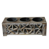 Antique Small Wooden Planter For Home