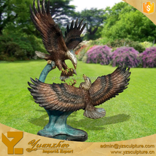 Outdoor large metal craft bronze eagle sculpture for sale