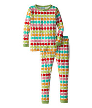 Online Children Colorful Wave Point Sleeping Clothes Sets Kid Night Suit
