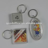 New arrival clear plastic key rings for promotion giftware