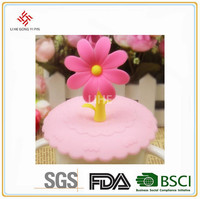 Buy universal flower shape ceramic coffee cup silicone lid