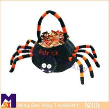 fantastic Halloween candy basket Halloween spider basket black spider plush basket