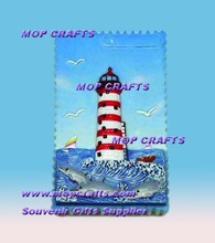 Polyresin lighthouse magnet