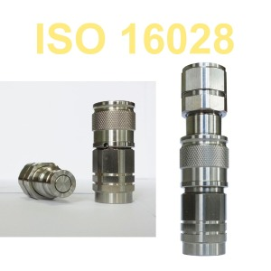 ISO 16028 Flat Face Hydraulic Pipe Couplings Quick Change Coupler (Stainless Steel)