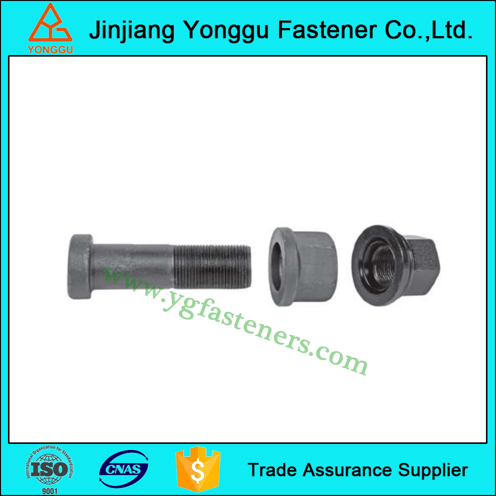 high quality phosphated custom wheel bolt and nut for truck