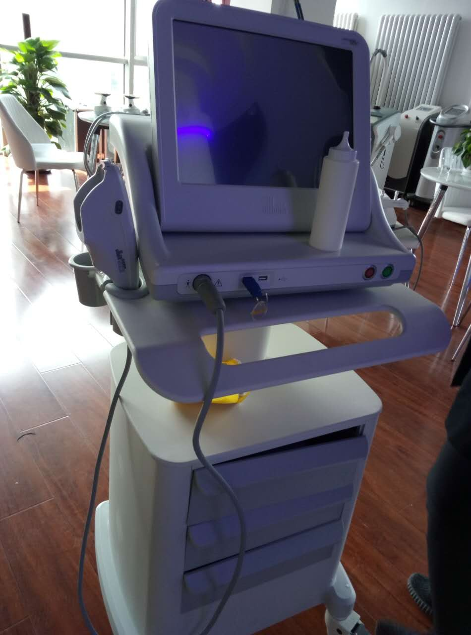 Focused ultrasound HIFU face lift machine anti wrinkle machine