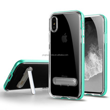 For Iphone X, Wholesale Clear <strong>Case</strong> PC TPU Back Cover Dual Color with Magnetic Kickstand Clear Phone <strong>Case</strong> for iPhone X