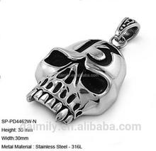 2018 Hot sale factory price stainless steel good lucky number 13 skull biker pendant DSP 202