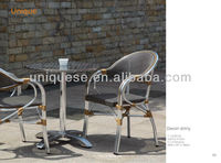 Hamilton round caffe table and Alum texlyline chair outdoor 3pcs/set