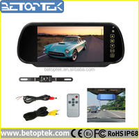 7 Inch Touch Sceen Rear View Mirror Camera System, MP5 & Bluetooth Optional
