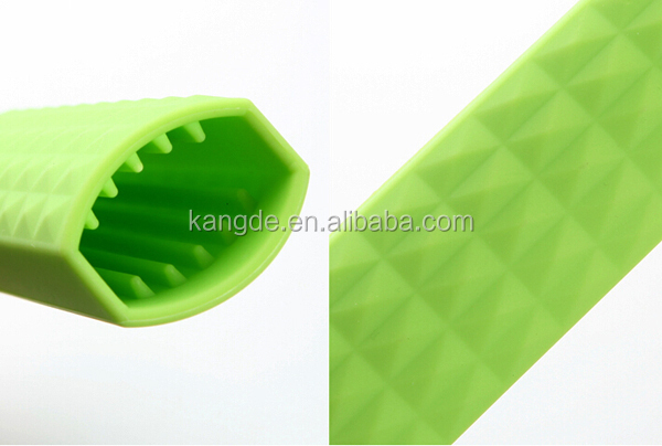 silicone hot handle holder, silicone pot handle sleeve, silicone grip pot handle covers