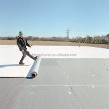 PVC with a polyester reinforcement waterproofing material