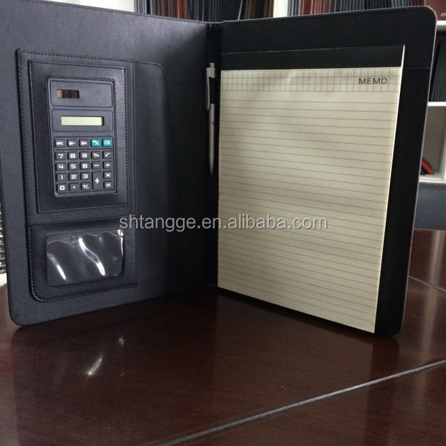 A4 PU Leather Business Notebook With Calculator Pen