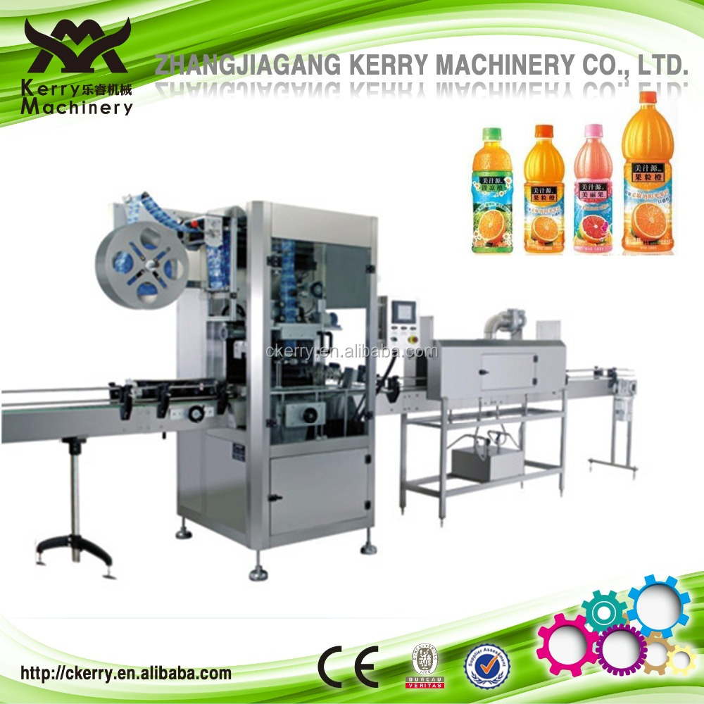 Colorful PVC PET OPS Shrink Sleeve Labeling Machine for Juice Bottle
