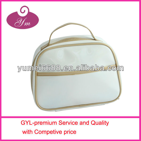 2013 most hot sale patent leather make up brush pouch
