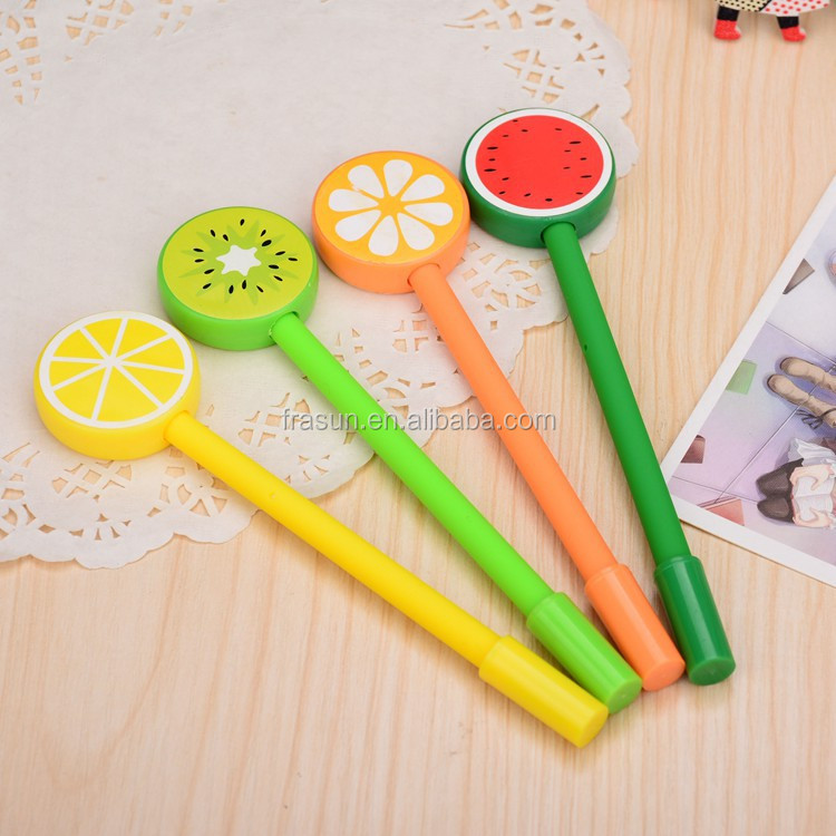 0.5mm Creative cartoon fruit shape gel pen office supplies student gel pen