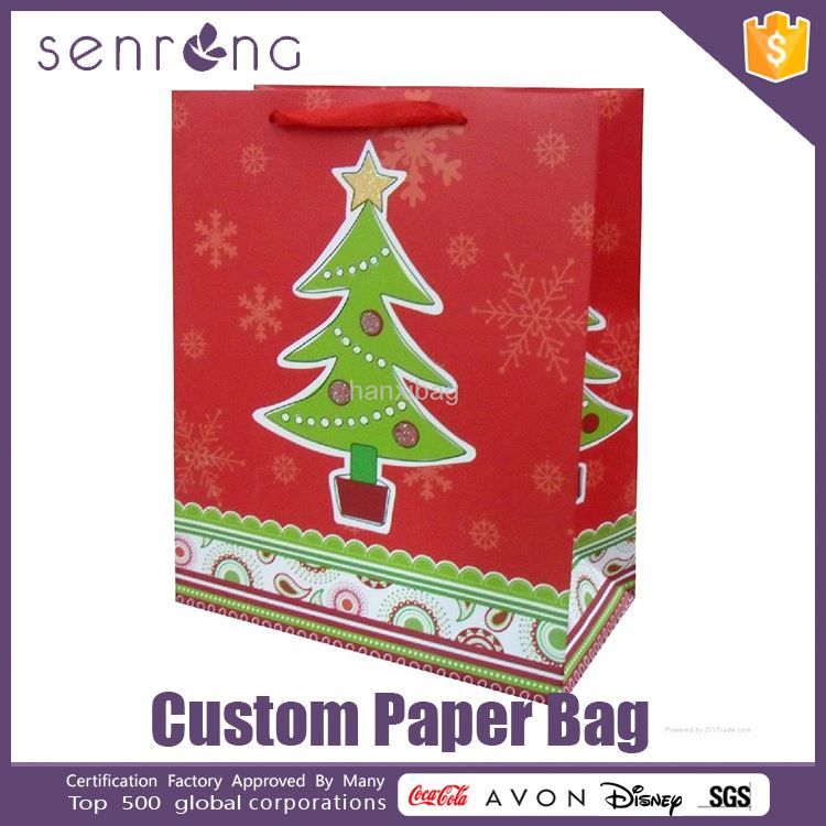 recycling paper bag promotion wine paper bag