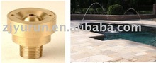 Brass hardware water deck jet fountain nozzle