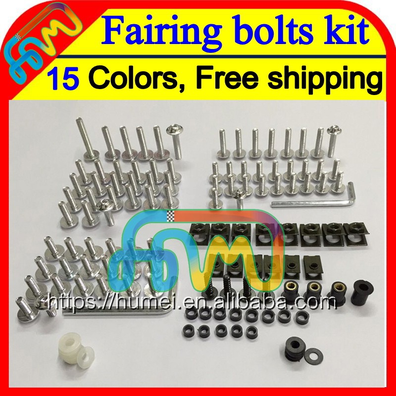 15Color BLK Fairing bolts kit full screw set For HONDA CBR250RR 88 89 MC19 CBR250 RR CBR 250RR CBR 250 RR 1988 1989 Nuts screws