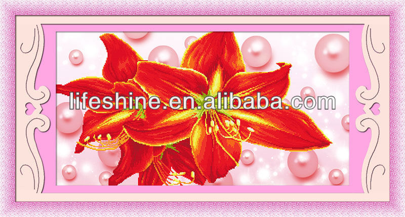Diamond flower picture with high quality raw material made