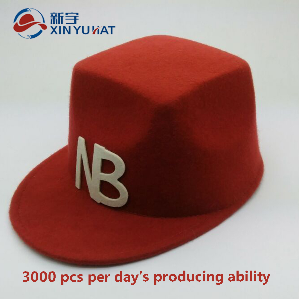 top quality custom fancy personalized children wool felt hat