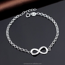 Hottest Diamond Friendship 925 Sterling Silver China Bracelets Infinity