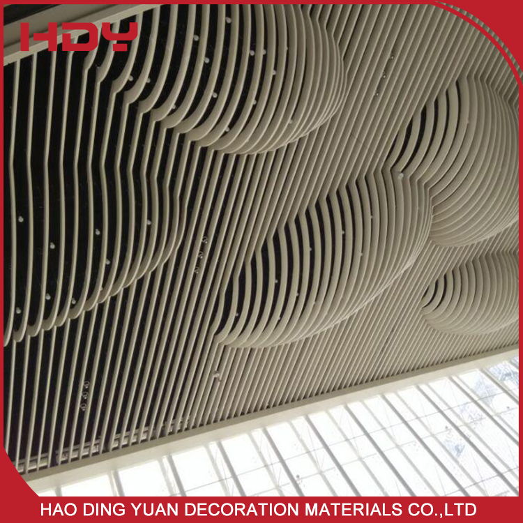 Pop Aluminium Baffle Ceiling Plafond Designs For Hall