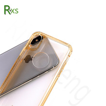 2017 Hot selling! TPU+Acrylic Crystal Clear Hard Cover Shockproof Phone Case For iPhone X