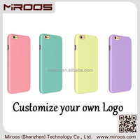 MIROOS 2015 new products oil coating print oem logo hard case for iphone 6