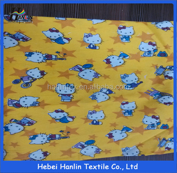 fabric child wholesale/children's cotton fabric/stretch flannel fabric