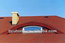 Red bitumen roofing shingles asphalt shingles
