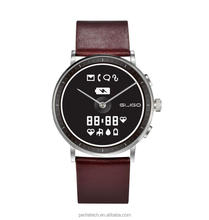 traditional style E-ink smart watch with heart rate monitor pedometer