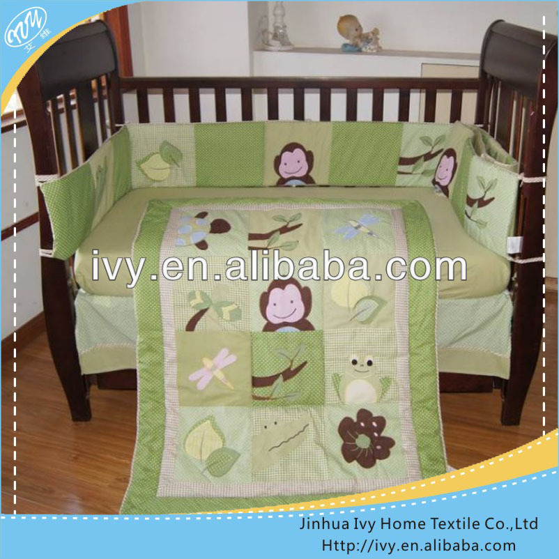 Kids Cartoon Bedding Set With Fabric Baby Bed Designs
