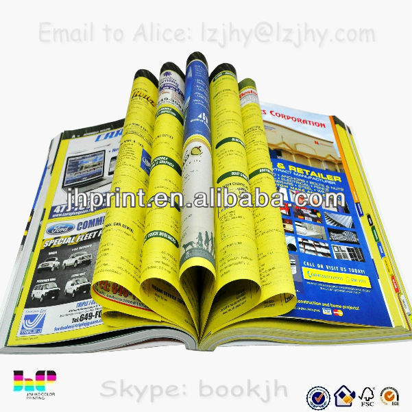 print China 2014 offset paper yellow pages