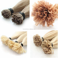 Free Shipping Factory Wholesale Price100 Remy Human Blonde Fusion Hair Extensions